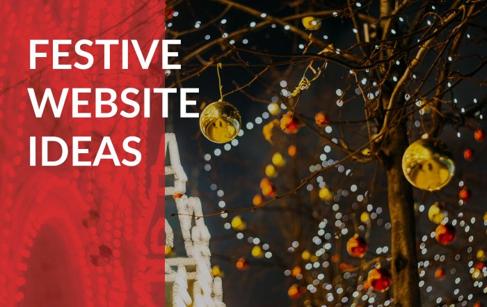 festive website ideas