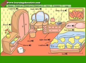 Bedroom Furniture Vocabulary English Memsaheb Net