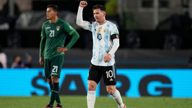 Lionel Messi's Brace Against Bolivia Took Him Past Pele In The History Books In South America