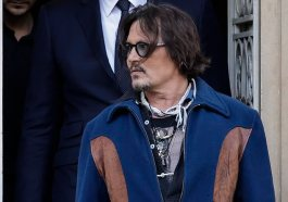 Johnny Depp Appeared To Be In Good Spirits As He Was Mobbed By Fans While Leaving His Hotel On Tuesday