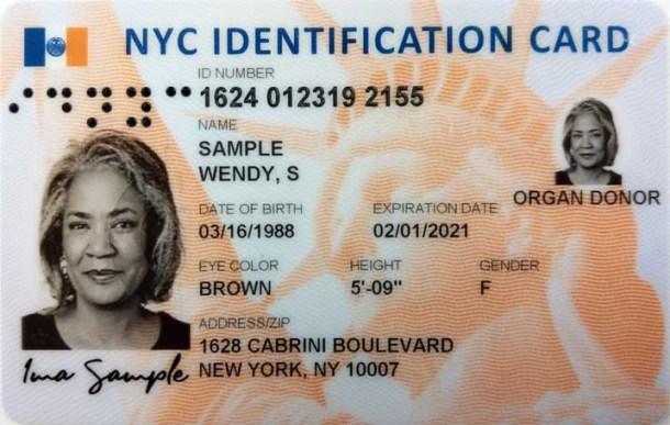 IDNYC card