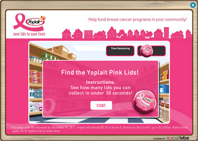 8379549 Sponsored Link: Yoplait Breast Cancer Awareness & 3 Free Farm Cash!
