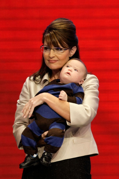 Image result for sarah palin trig 2008 gop convention