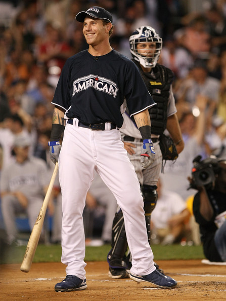 Josh Hamilton smiles during the 2008 MLB All-Star State Farm Home Run Derby at Yankee Stadium on July 14, 2008 in the Bronx borough of New York City.