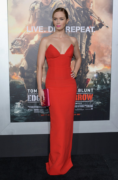 Emily Blunt in Prada at the 'Edge of Tomorrow' NYC Premiere