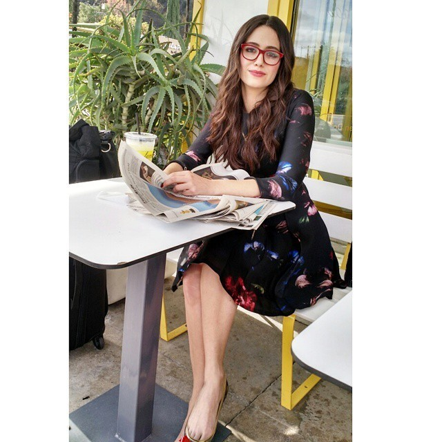 Emmy Rossum Is Smart Chic In Red Glasses The Weeks Most