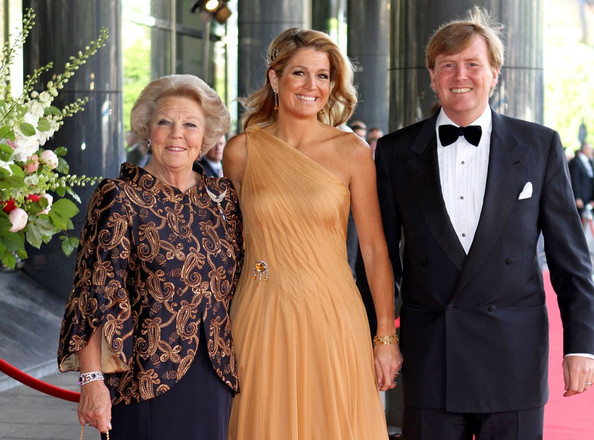 Queen Beatrix Princess Maxima of The Netherlands celebrates her 40th birthday at the Concertgebouw in the company of many royal friends.