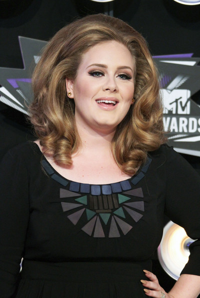 Adele Celebrities arrive at the 28th Annual MTV Video Music Awards at the Nokia Theatre L.A. Live in Los Angeles.