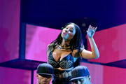 Recording artist Nicki Minaj (C) performs onstage during the 2014 iHeartRadio Music Festival at the MGM Grand Garden Arena on September 19, 2014 in Las Vegas, Nevada.
