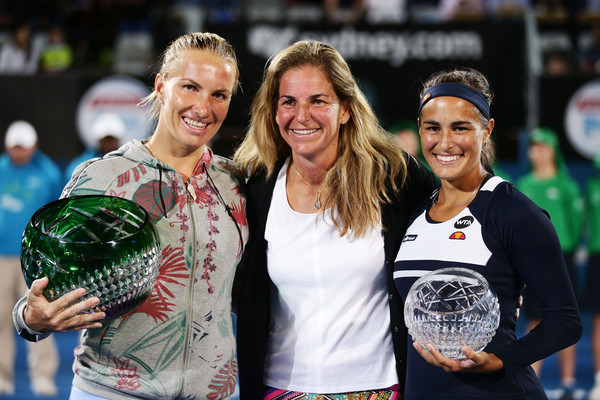 Sydney with Arantxa Sanchez-Vicario and Monica Puig
