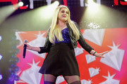 Meghan Trainor performs onstage during 93.3 FLZÂ's Jingle Ball 2014 at Amalie Arena on December 22, 2014 in Tampa, Florida.
