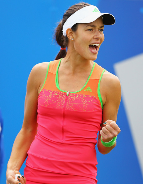 Ana Ivanovic Ana Ivanovic of Serbia celebrates a point during her semi-final match agsint Daniela Hantuchova of Slovakia during day six of the AEGON Classic at the Edgbaston Priory Club on June 11, 2011 in Birmingham, England.