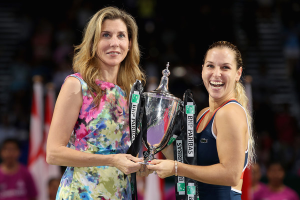 with Monica Seles