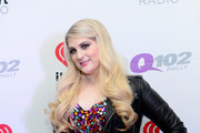 Singer Meghan Trainor poses backstage at the Q102's Jingle Ball 2014 at Wells Fargo Center on December 10, 2014 in Philadelphia, Pennsylvania.