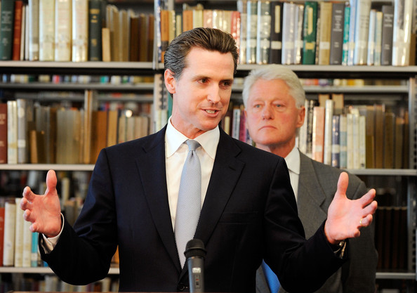 Gavin Newsom and Bill Clinton