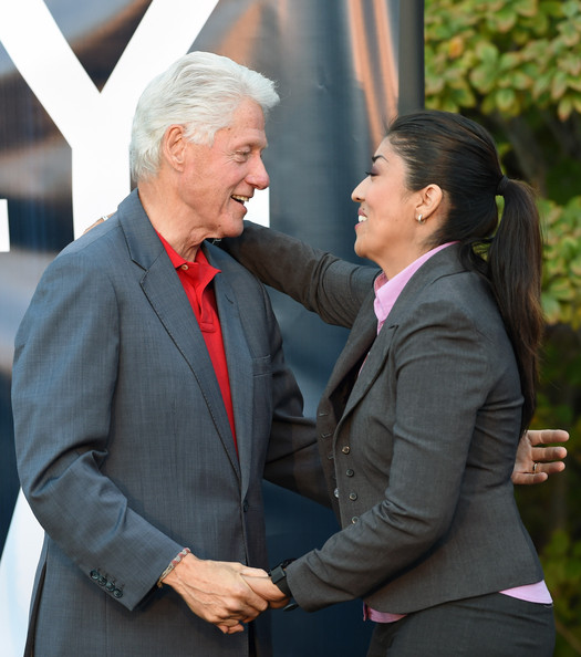 Image result for photos of lucy flores w bill clinton