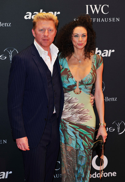 Boris Becker Academy member Boris Becker and wife Sharlely arrive for the Laureus Welcome Party as part of the 2011 Laureus World Sports Awards at Cipriani Yas Island on February 6, 2011 in Abu Dhabi, United Arab Emirates.