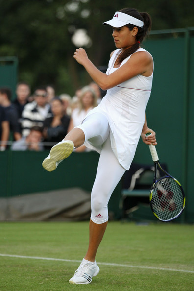 Ana Ivanovic Ana Ivanovic of Serbia in action against Shahar Peer of Israel on Day One of the Wimbledon Lawn Tennis Championships at the All England Lawn Tennis and Croquet Club on June 21, 2010 in London, England.