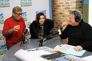 "(EXCLUSIVE COVERAGE) (L-R) Uncle Johnny, Charli XCX and Elvis Duran visit ""The Elvis Duran Z100 Morning Show"" at Z100 Studio on December 12, 2014 in New York City."