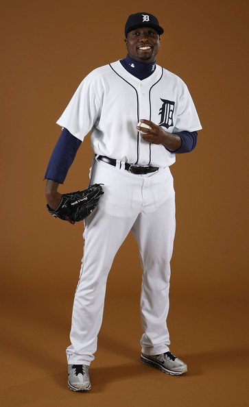Dontrelle Willis #21 of the Detroit Tigers poses during photo day at the Detroit Tigers Spring Training facility on February 27, 2010 in Lakeland, Florida.