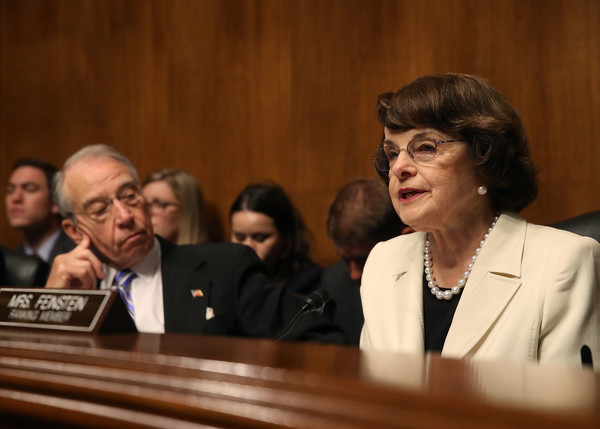 Image result for Dianne Feinstein, senate judiciary committee, photos