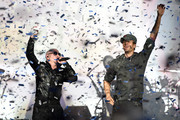 Pitbull and Enrique Iglesias perform onstage at Allstate Arena on February 20, 2015 in Rosemont, Illinois.