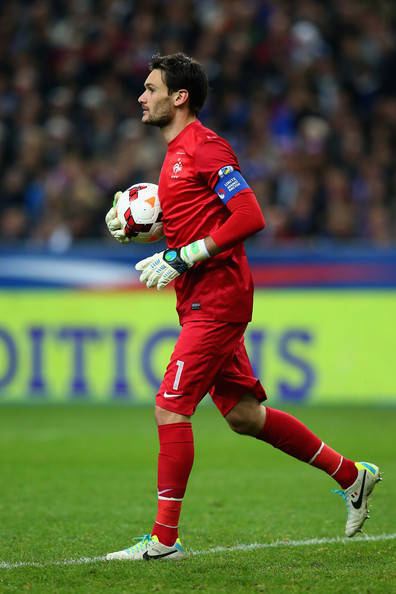 Hugo Lloris of France is seen during the FIFA 2014 World Cup Qualifying Group I match between France and Finland at the Stade de France on October 15, 2013 in Paris, France.