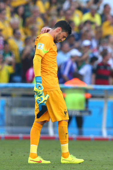 Hugo Lloris of France looks on after being defeated by Germany 1-0 during the 2014 FIFA World Cup Brazil Quarter Final match between France and Germany at Maracana on July 4, 2014 in Rio de Janeiro, Brazil.