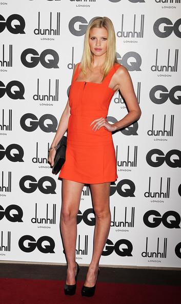 Model Lara Stone attends the GQ Men Of The Year Awards at The Royal Opera House on September 6, 2011 in London, England.