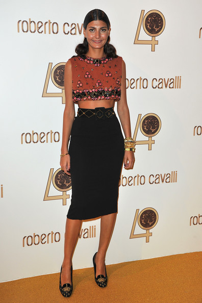 Giovanna Battaglia Giovanna Battaglia attends the Roberto Cavalli party at Les Beaux-Arts de Paris as part of the Paris Fashion Week Ready To Wear S/S 2011 on September 29, 2010 in Paris, France.