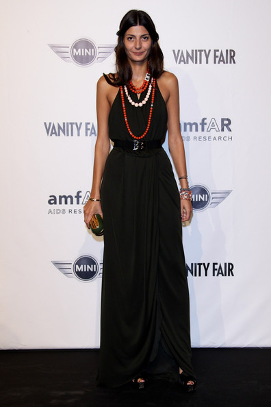 Giovanna Battaglia Giovanna Battaglia attends amfAR Milano 2010 Red Carpet during Milan Fashion Week Womenswear Spring/Summer 2011 at La Permanente on September 27, 2010 in Milan, Italy.