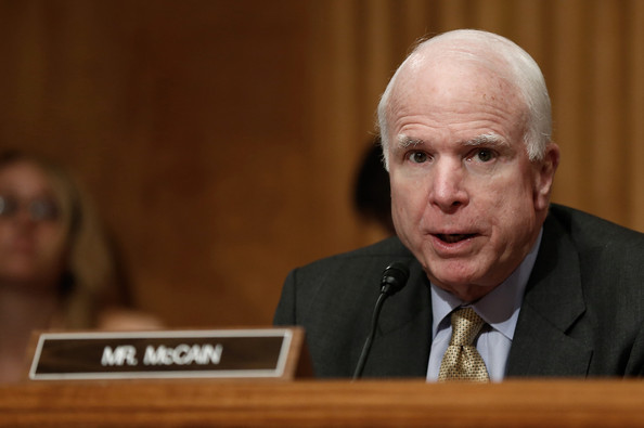 Image result for images of sen mccain at hearing