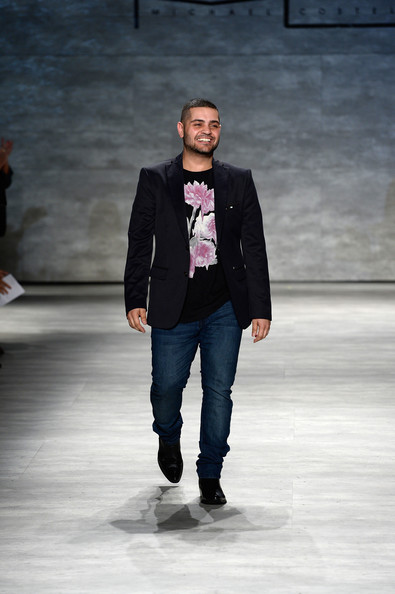 Michael Costello Designer Michael Costello walks the runway at the Michael Costello fashion show during Mercedes-Benz Fashion Week Spring 2015 at The Pavilion at Lincoln Center on September 9, 2014 in New York City.
