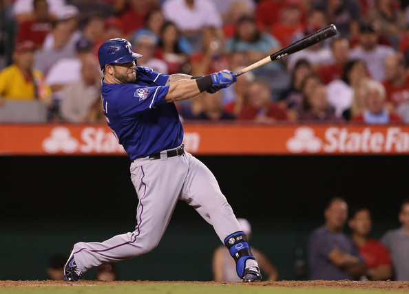 Mike Napoli - Texas Rangers v Los Angeles Angels of Anaheim