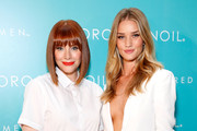 Actress Bryce Dallas Howard (L) and model Rosie Huntington-Whiteley attend Moroccanoil Inspired by Women campaign launch event at the IAC Building on September 17, 2014 in New York City.