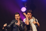 Jordan Knight and Joey McIntyre of New Kids On The Block perform at Gramercy Theatre on February 15, 2015 in New York City.