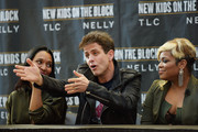 (L - R)  Chilli of TLC, Joey McIntyre of New Kids On The Block, and T-Boz of TLC attend the New Kids On The Block Press Conference at Madison Square Garden on January 20, 2015 in New York City.