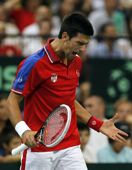 Novak Djokovic - Serbia v Argentina - Davis Cup World Group Semi Final - Day Three