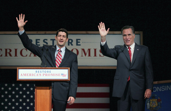 Paul Ryan - Mitt Romney Campaigns In Wisconsin Ahead Of Primary