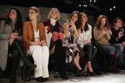 Zosia Mamet, Victoria Justice, Madison Guest, Jen Rade and Charles Manning attend the Rebecca Minkoff fashion show with TRESemme during Mercedes-Benz Fashion Week Fall 2015 at The Pavilion at Lincoln Center on February 13, 2015 in New York City.