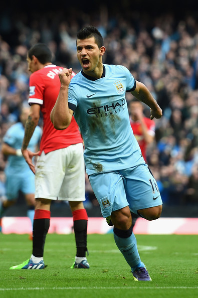Sergio Aguero - Manchester City v Manchester United - Premier League