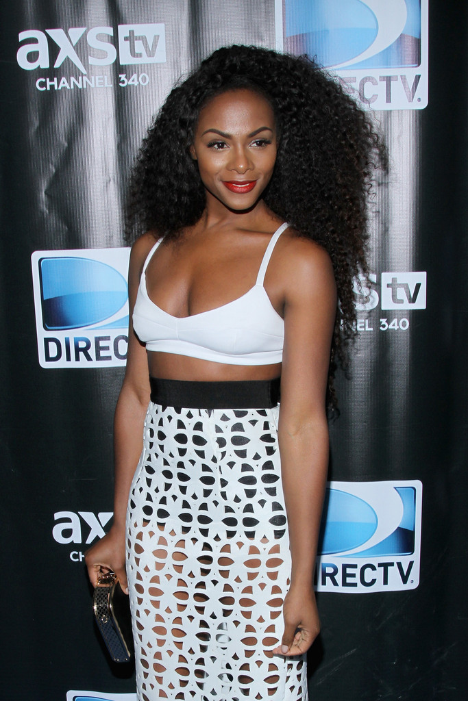 tika sumpter in burberry
