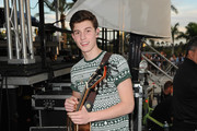 Shawn Mendes poses at Y100's Jingle Ball Village, Y100's Jingle Ball 2014 official pre-show at BB&T Center on December 21, 2014 in Miami, FL.