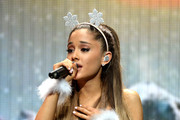Ariana Grande performs onstage during Y100's Jingle Ball 2014 at BB&T Center on December 21, 2014 in Miami, FL.
