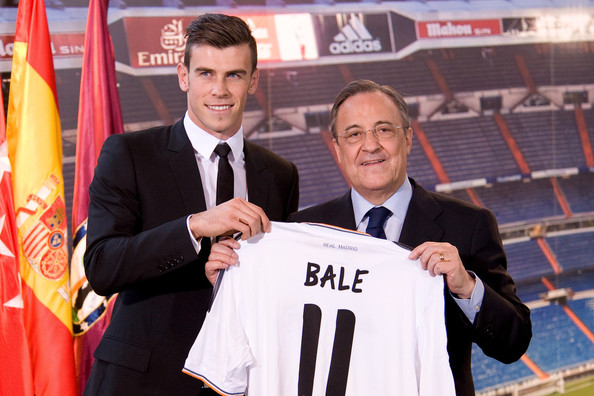 Gareth Bale and Florentino Perez at Real Madrid