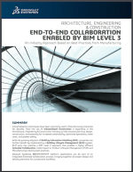 Cover: END-TO-END COLLABORATION ENABLED BY BIM LEVEL 3 An Industry Approach Based on Best Practices from Manufacturing