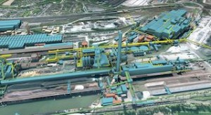 "Large scale ""One Digital Factory"" hybrid infrastructure and architecture 3D model. Image courtesy of HKM."