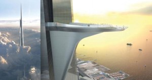 Saudi Arabia's Kingdom Tower will soar into the sky, at a gargantuan 3,280 ft.