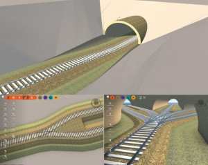 The grouping feature in InfraWorks 360 allows a designer to use a single bridge to carry multiple tracks versus having to create a bridge for each track.