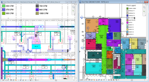Revit 2016 R2 updates room, space, HVAC zone, duct, and pipe color fills using multiple CPUs. Image courtesy of Autodesk.